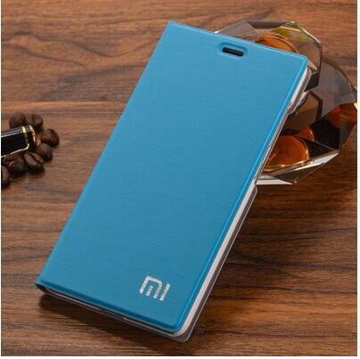 "Image 2 - Xiaomi mi4 Case Cover M4 MI 4 Luxury Slim Flip PU Leather Case Original size 5.0"" For Xiaomi Mi4 M4 Cover Bag screen protector-in Flip Cases from Cellphones & Telecommunications"
