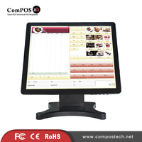 Best Selling 17 Inch Touch Screen Monitor LCD Restitive Touch Display For High Class Barbershop