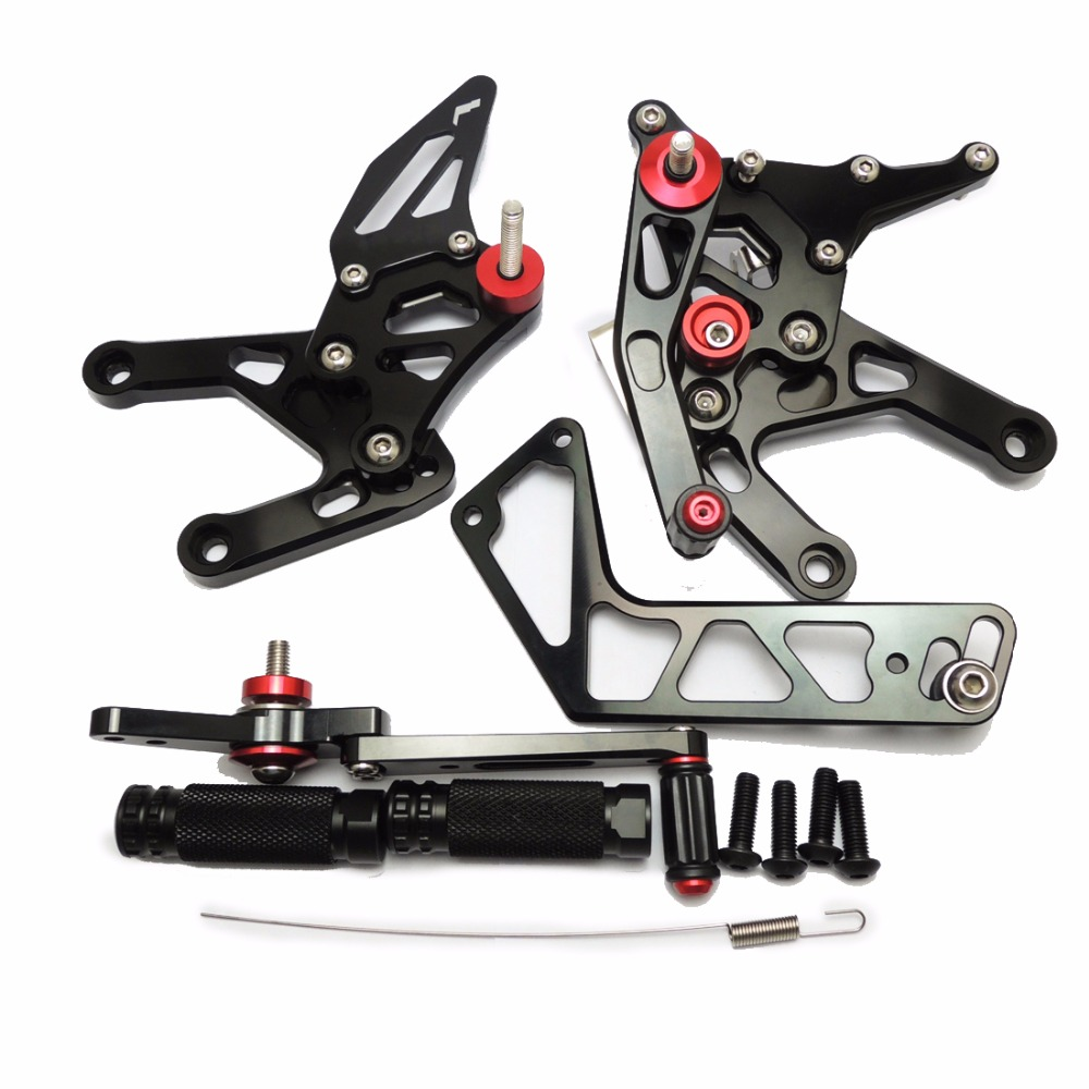 KEMiMOTO YZF R1 2015 2016 Black Rear Sets For Yamaha YZF-R1 2015 2016 R1 CNC Adjustable Rearsets Foot Rests Pegs 100% Brand New рюкзак brand new 2015 24513