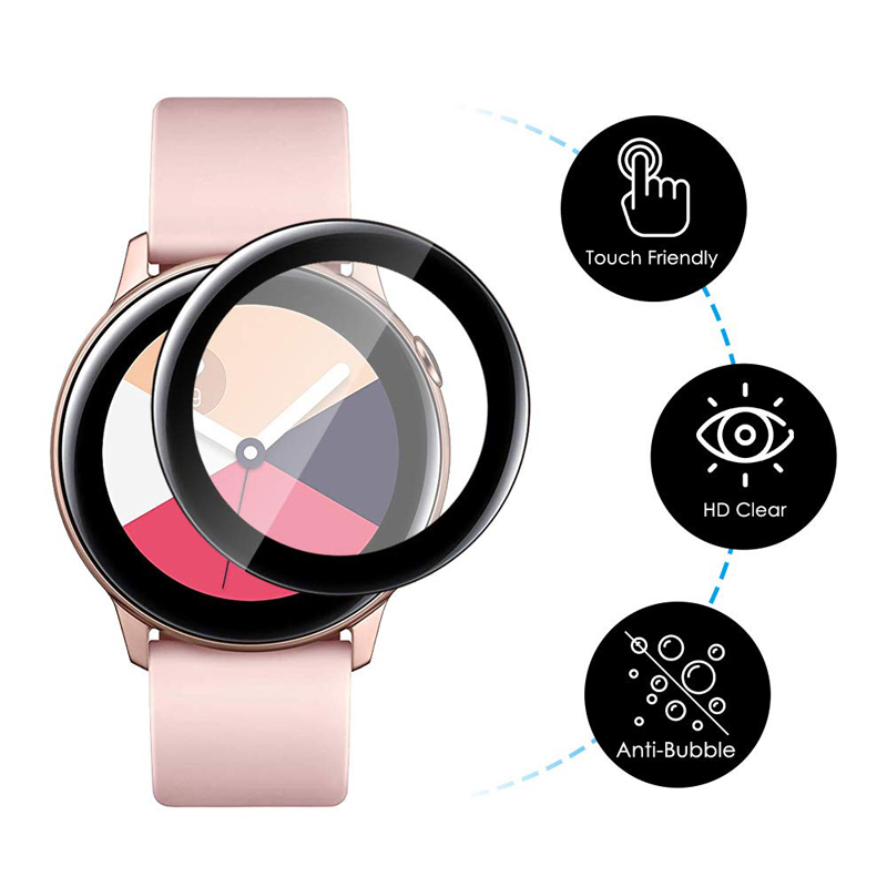 Polymer Full Film For Samsung Galaxy Watch Active 2 40mm 40mm Gear S3 Frontier S2 42mm 46mm Screen Protector HD Anti-Bubble