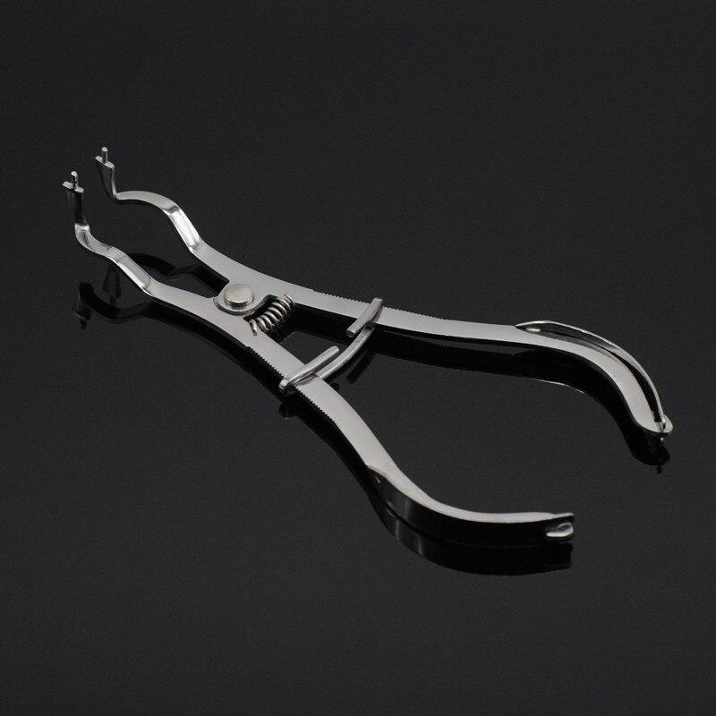 Стоматологические Инструменты бобовый лист зажим формирующий кусок Размещения пинцет-плоскогубцы формовочные шлаки для стоматологической лаборатории
