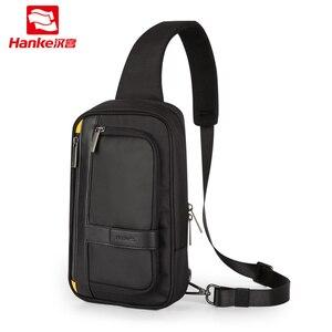 Image 1 - Hanke novos homens crossbody sacos do mensageiro escola masculino estilingue sacos de peito para o trabalho resistente à água viagem cruz cintura ombro saco