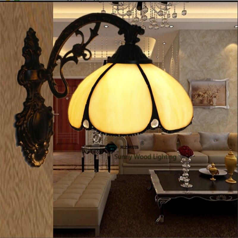 ФОТО Tiffany wall lamp, conventional Baroque wall lamp ,20cm tiffany mirror lamp,wall light for balcony,bedroom, corridor TEN-W-003