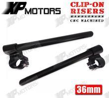 Высокое Качество Черный ЧПУ 1 «Riser Clip-На Выше Clipons Руль Универсальный Fit 36 мм Вилки Подходит Для КАФЕ RACER