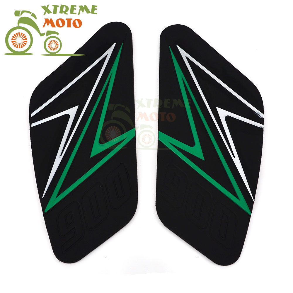 Motorcycle Gas Tank Pad Traction Side Pads Gas Fuel Knee Grip Decal Protector For KAWASAKI Z900 2016-2017 2016 2017 16 17 bjmoto for ktm duke 390 200 125 motorcycle tank pad protector sticker decal gas knee grip tank traction pad side