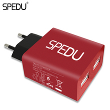 SPEDU Dual USB Charger EU Plug For samsung xiaomi iphone Wall Charger Universal Phone Charger 5V 2.4A Travel Charger USB adapter