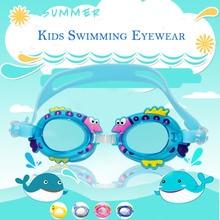 479095dd1 Crianças à prova d água óculos de natação de silicone ajustável dos desenhos  animados nadar eyewear piscina óculos de água anti-.