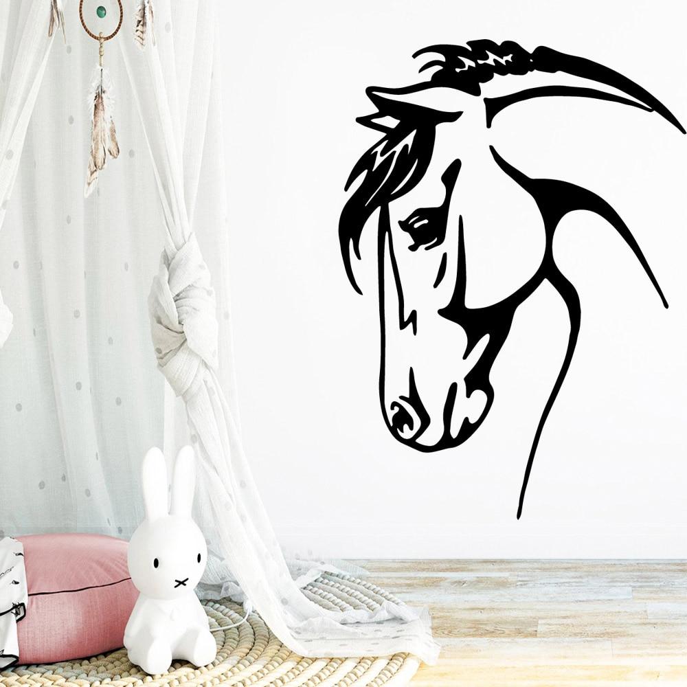 Colorido Adesivo De Parede Cavalo Watercolo Auto Adesivo Removível Para Quartos Dos Miúdos Home Decor Decoração de Parede