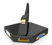 Minidp turn hdmi/vga/dvi three in one converter mini DP adapter lightning port extension cable Y10