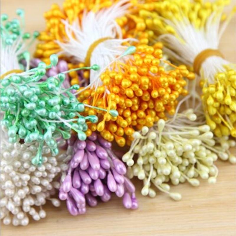 100 шт./лот Искусственные цветы тычинки вечерние украшения Свадебные украшения искусственные цветы для украшения baby shower поставки