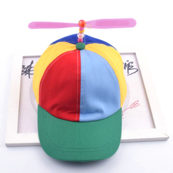 1 PCS Men Women Adult Propeller Hat Colorful Patchwork Funny Baseball Hats Propeller Bamboo Dragonfly Sun Hat Casquette Snapback