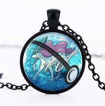 Pocket Monster Go Pokemon Pocket Monster Japanese Anime Surrounding Time Gem Glass Necklace