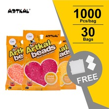цены mini 2.6mm hama beads16,800pcs 4 pegboards 21 colors box set food grade EVA perler beads active iron artkal beads
