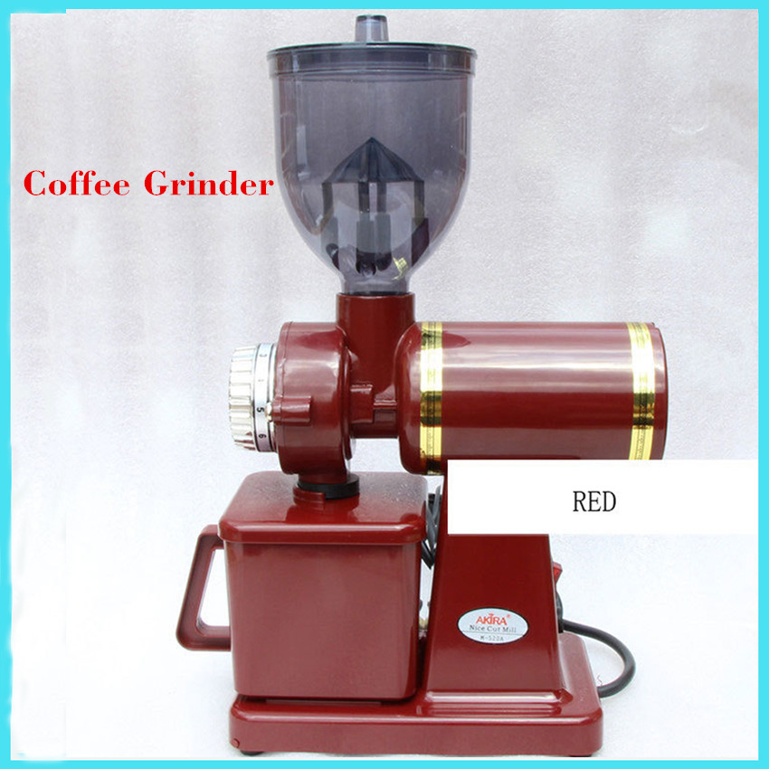 Automatic Electric Coffee Corn Burr grinder Coffee Grinder coffee Mill Grinding Machine coffee machine Black/Silver/Red M-520A lole капри lsw1349 lively capris xs blue corn