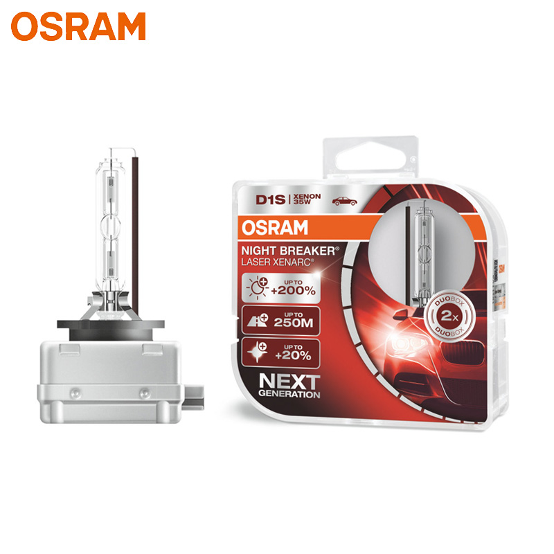 OSRAM Xenon NIGHT BREAKER LASER HID D1S 66140XNL 12V Super Bright Car Headlight Auto Hi lo