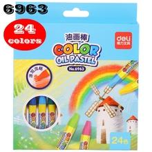 Deli kolor pastele olejne kolor pałeczki do malowania kolor kredka kolor ołówek malowanie ołówek 12-36 kolorów dla dzieci student kredka tanie tanio Zestaw Pastelowe oleju 24 kolory 24 kolory box 6961 6962 6963 6964