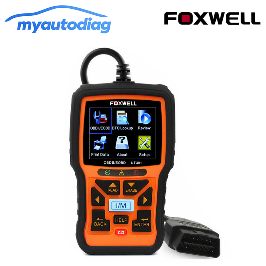 все цены на OBD 2 Automotive Scanner Foxwell NT301 Car Engine Fault Code Reader CAN OBD2 EOBD Auto Diagnostic Scanners OBD II Scanner онлайн