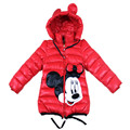 Baby Girls coat Minnie Cartoon coat Children Outwear ,Baby girls winter thick warm jacket,New Year Girls clothes for Winter