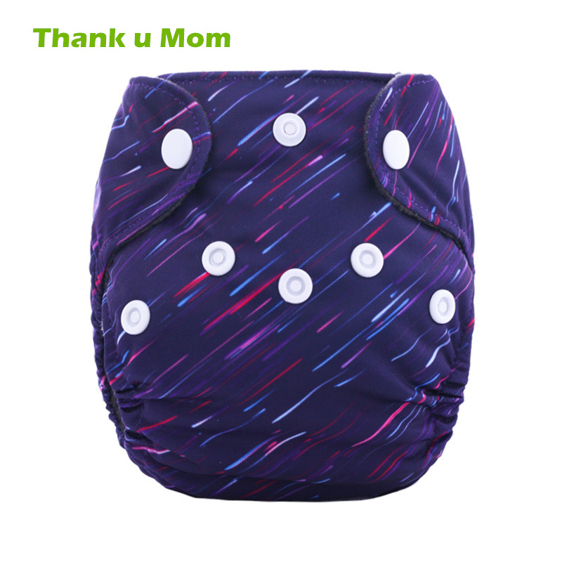 Thank U Mom Newborn Cloth Diaper AIO Bamboo Charcoal Tiny Reusable Baby Nappies Double Gussets Fits 2-5KG Babies