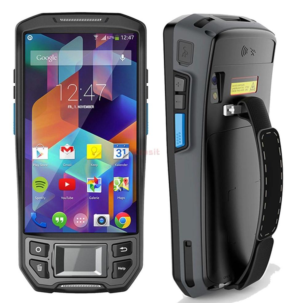 Fingerprint Reader UHF RFID 1D/2D Barcode Scanner Android 7.0 Wireless Handheld Device Terminal Rugged Waterproof Phone GPS 4G
