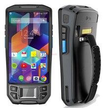 Czytnik linii papilarnych UHF RFID 1D/2D skaner z systemem android 7.0 bezprzewodowy ręczny Terminal urządzenia wytrzymały telefon wodoodporny GPS 4G
