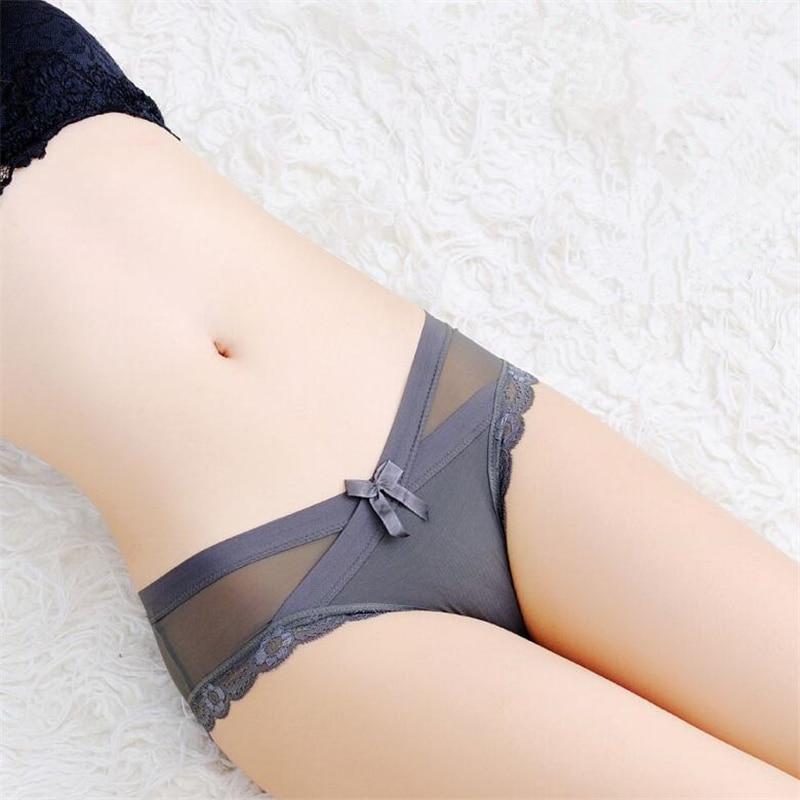 4pcs/lot Women Lace Panties Seamless Panty Breathable Briefs For Women Cotton Crotch Low Waist Transparent Underwear Intimates