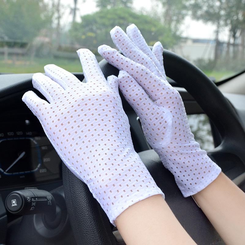 Hollow Out Women Gloves Fashion White Thin Stretch Glove Spring Summer Driving Party Sunscreen Sunproof Ladys Lace Ritual Gloves