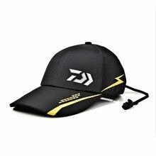 Daiwa gorra de béisbol con tapa de pesca al aire libre, gorra de béisbol con tapa de pesca al aire libre, transpirable, de algodón, Hip hop, novedad de verano