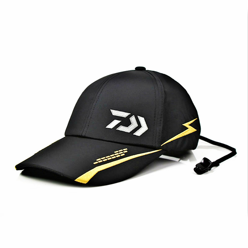 Image 1 - New Summer Daiwa Hat Outdoor Fishing Cap Baseball Cap Solid Outdoor Breathable Cotton Daiwa Fishing Hat Hip Pop Baseball Cap-in Fishing Caps from Sports & Entertainment