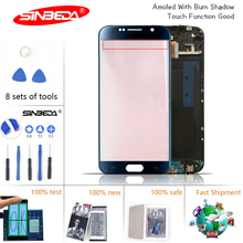 5.1''Sinbeda Burn-Shadow LCD for SAMSUNG Galaxy S6 LCD Display Touch Screen Digitizer G920 G920F for Samsung S6 Display Screen new tested for samsung galaxy s6 lcd g920 g9200 display screen with touch digitizer free tools assembly 1 piece free shipping