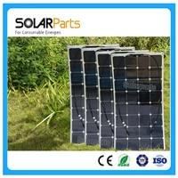 Solarparts 4x 100W Fexible Solar Panel 12V High Efficiency Solar Cell Yacht Boat Marine RV Solar