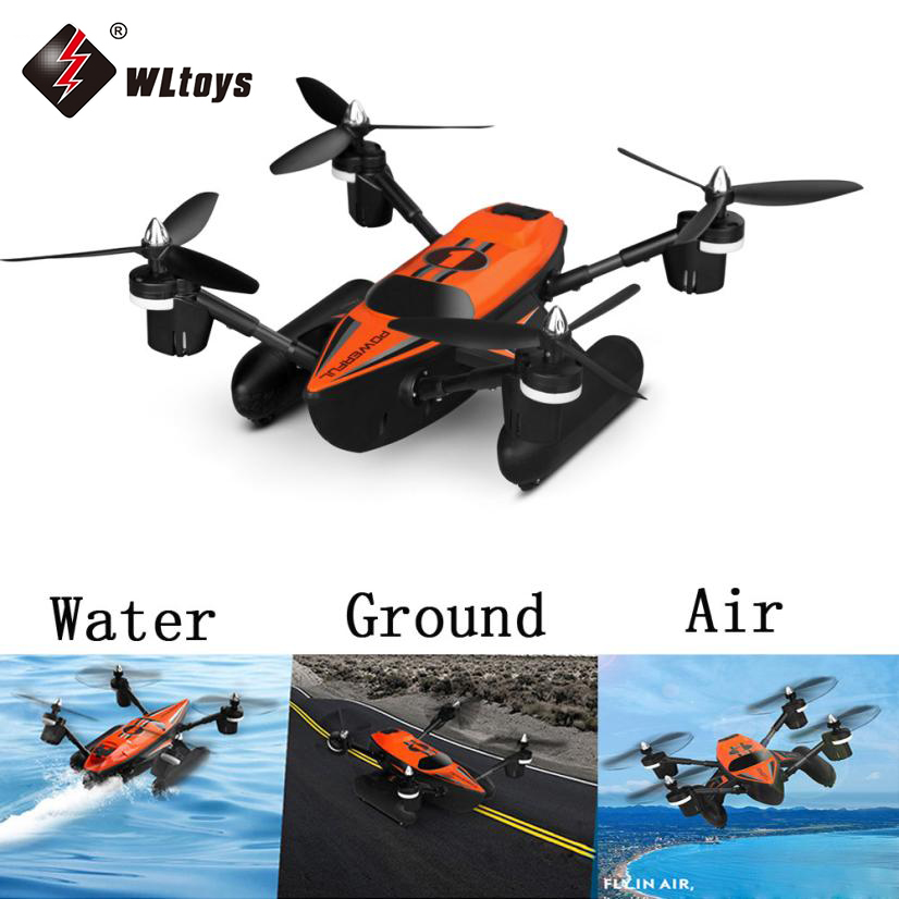 2017 New Arrival WLTOYS Q353 RC Drone RTF 2.4G 6-Axis Air Land Sea Mode/ Headless Mode One Key Return RC Quadcopter Orange wltoys v393 6 axis gyro brushless headless mode ufo rc quadcopter drone rtf 2 4ghz