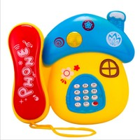 Baby Toy Phones Good Quality Cartoon Mushroom Telephone Music And Light Good Gift For Kids Early