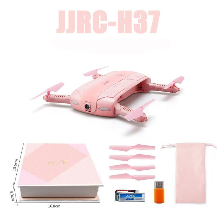 Princess version JJRC H37 Elfie Selfie Pink Mini Foldable 2.0MP WIFI FPV selfie Camera Quadcopter Foldable Micro RC Drone Quadc 2017 new jjrc h37 mini selfie rc drones with hd camera elfie pocket gyro quadcopter wifi phone control fpv helicopter toys gift