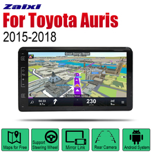 ZaiXi Android 2 Din Auto Radio For Toyota Auris 2015~2018 Car Multimedia Player GPS Navigation System Stereo