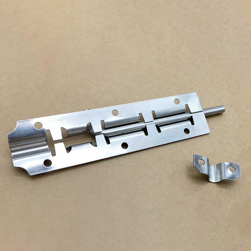 "3"" 4"" 5"" Stainless Steel Door Latch Barrel Bolt Latch Hasp For Bathroom Bedroom Gate Lock Durable Safety Hardware Locks"