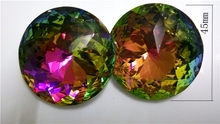 10pcs 45mm Multicolor Crystal Round Faceted Prisms Prism Ornaments In One Hole