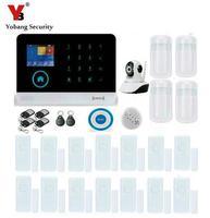 Yobang Security APP Control IP Camera WIFI GSM Alarm System RFID Home Security Metal Remote Control
