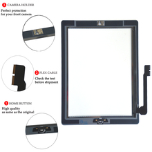 цена на Aikuyi screen for ipad 3rd Touch Screen Glass Digitizer Replacement, Home Button Flex, Adhesive Tape,Repair Tools kit