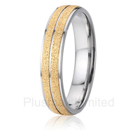 Titanium UK Styles Classic And Contemporary Wedding Band Rings 18k Gold Plated