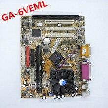 100% okオリジナルのマザーボード8601t GA 6VEML GA 6VEM isaと3PCI vga lpt 1 isaスロットcpu工業ボード