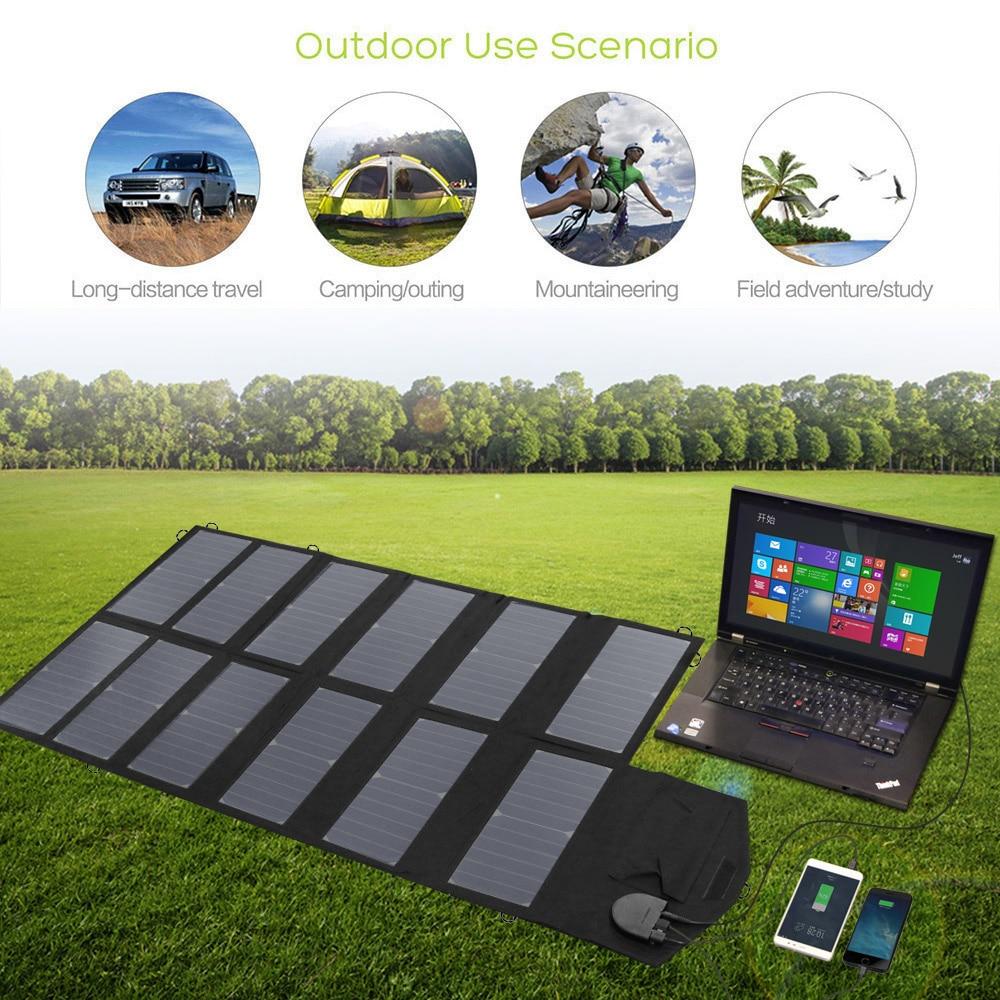 Allpowers Zonnepaneel 80W Solar Battery Charger Voor Iphone Sumsung Telefoons Lenovo Hp Dell Acer Laptops 12V Auto batterij Etc. - 5