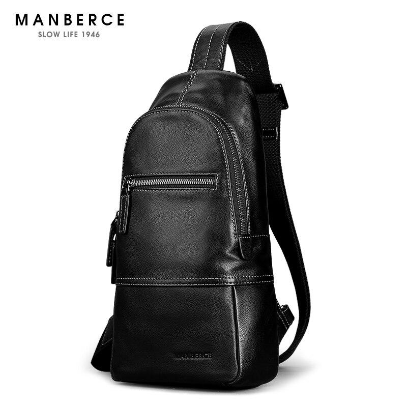 MANBERCE Handbag Genuine Leather Men's Shoulder Bags Brand Men Messenger Bag Travel Casual Youth Crossbody Beach Bag Free Ship светильник настенный lucesolara classico 1007 1a white
