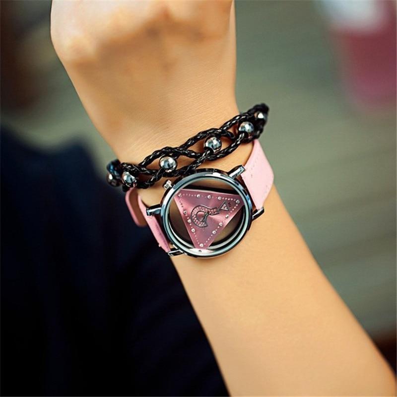 Σκελετό Τρίγωνο ρολόι Γυναίκες Μόδα - Γυναικεία ρολόγια - Φωτογραφία 5