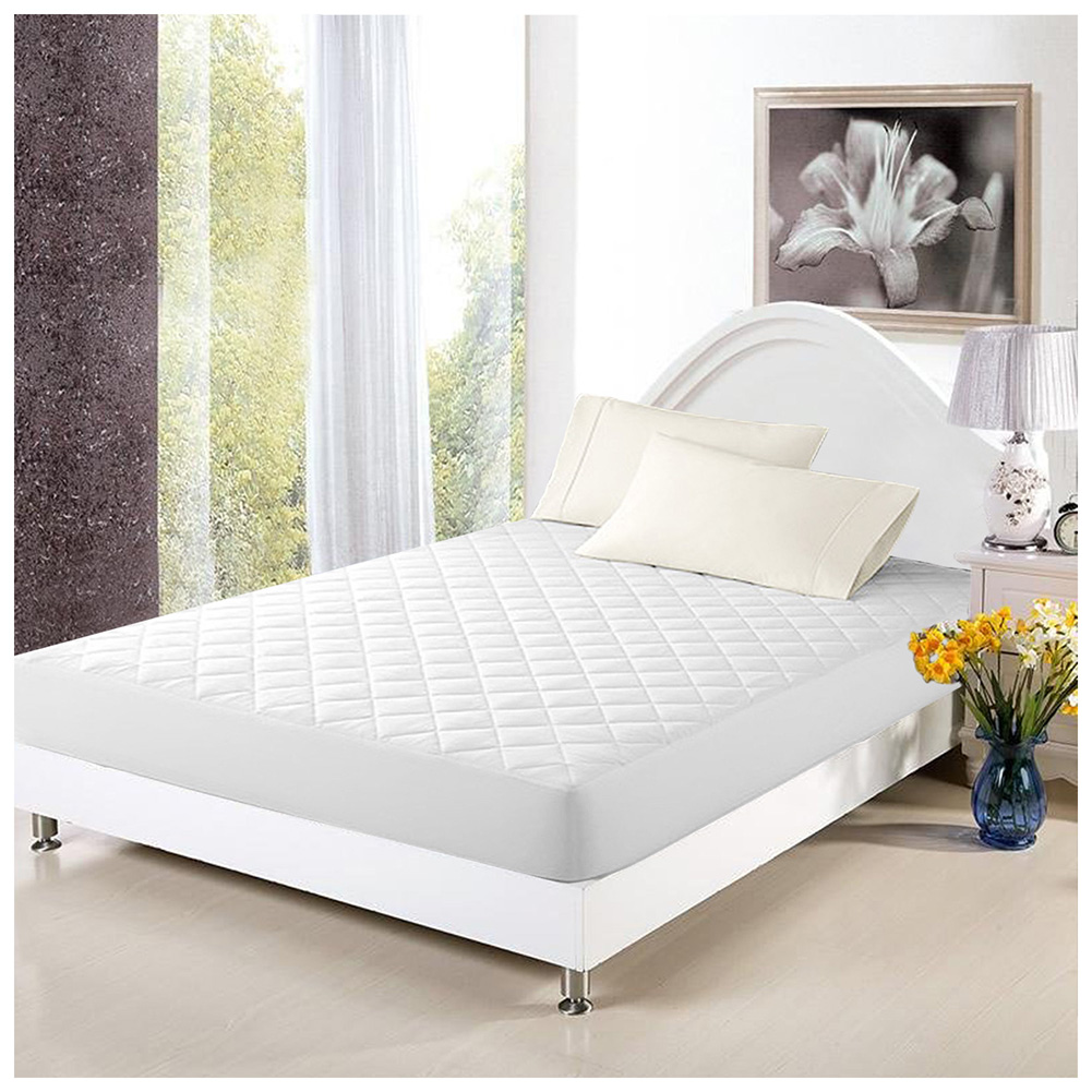 Mattress Cover Bed Topper Bug Dust Mite Waterproof Pad Protector Quilted ...