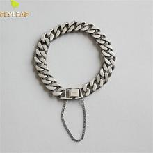 Flyleaf 925 Sterling Silver Bracelets For Women personality vintage Simple Fashion Fine Jewellery & Bangles