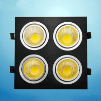 1pcs Super Bright Black Square Dimmable Led Downlight Light COB Ceiling Spot Light 28w 40w 48w