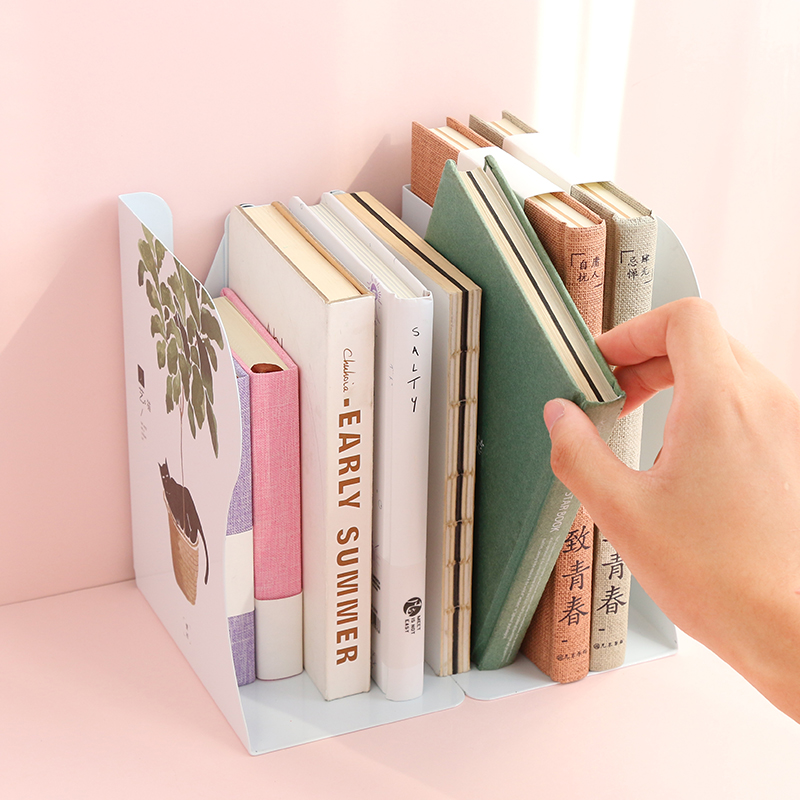 Office & School Supplies 2018 Newest Scalable Book Stand Creative Student Bookshelf Bookcase Folding Bookends Flexible Desktop Storage Rack Bookends