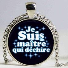 2017 new cameo Necklace  je suis une maitresse qui dechire Necklace hot France quote HZ1