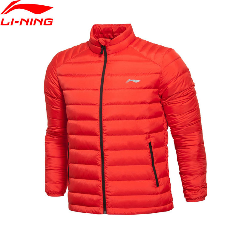 Li-Ning Men Training AT PROOF WIND White Duck Down Coat Slim Fit Comfort Warm LiNing Down Jackets AYML093 MWY269